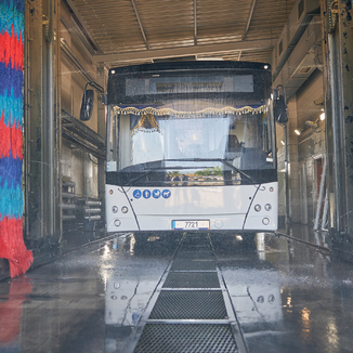 Bus wash spot automation